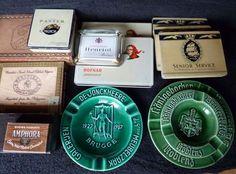 Online veilinghuis Catawiki: Verzameling oude sigarendoosjes en asbakken