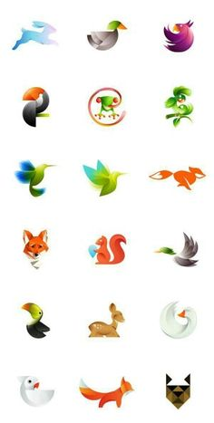 A collection of colorful animal logos by Ivan Bobrov. Look at this beautiful collection of colorful animal logos created by Ivan Bobrov, a Barnaul, Russian Web Design, Icon Design, Design Art, Design Ideas, Bird Design, Logo Inspiration, Typography Design, Branding Design, Corporate Branding