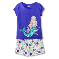 Baby Girls Toddler Short Sleeve Mermaid Graphic Tee - White T ...