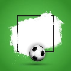 Football / soccer ball on a grunge background with black frame Football Pitch, Free Football, Football Soccer, Soccer Referee, Soccer Cleats, Soccer Pro, Kids Soccer, Soccer Ball, Soccer Backgrounds