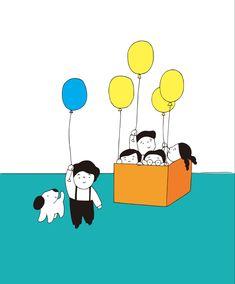 絵とおはなし「平気 平気」 気がついたらみんなと違う でも、平気。 Peanuts Comics, Snoopy, Fictional Characters, Fantasy Characters