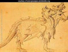 Giuseppe Arcimboldo (1527-1593) - Design of a dragon costume for horse.