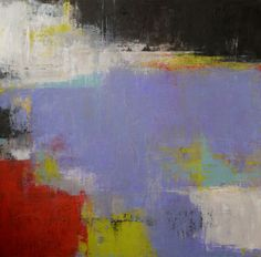 """Daydreams"" - abstract oil & cold wax on board by Pam Peterson. (www.pampetersonart.com)"