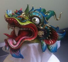 Sugar Chinese New Year dragon cake topper crafted by Karen Portaleo of Highland Bakery in Atlanta, Georgia...amazing!