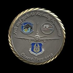 70th and 79th AIR REFUELING SQUADRONS DESERT TOUR 2010 Cheap Custom Stamping COIN