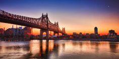 El puente Queensboro une Manhattan con Queens pasando por Isla Roosvelt. Pasa sobre el río Este (East River). Este puente es conocido también como el Puente de la Calle 59, ya que uno de sus extremos, en Manhattan, está localizado entre las calles 59 y 60. Es un puente de celosía y fue inaugurado en el año 1909 y es el más occidental de los puentes que cruzan el río East.