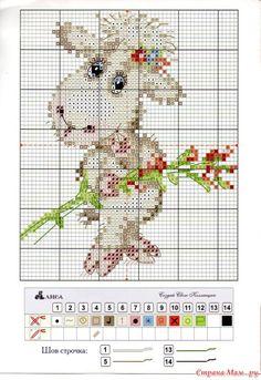 Gallery.ru / Фото #10 - вышивка схемки разное - pedak Cross Stitch Tree, Cross Stitch Animals, Cross Stitch Charts, Counted Cross Stitch Patterns, Cross Stitch Designs, Cross Stitch Embroidery, Kawaii Cross Stitch, Baby Kind, Loom Patterns