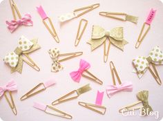 Washi Tape Bow : Paper Clip