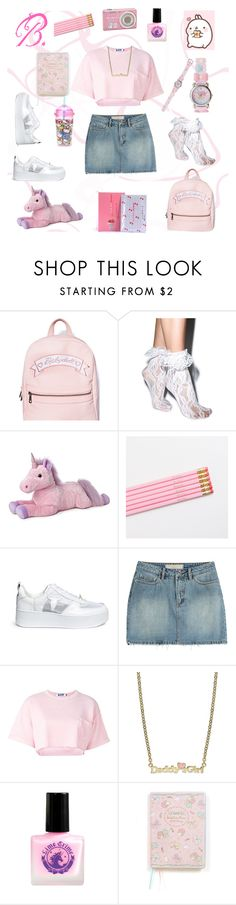 """""""B. Outfit #2 ddlg"""" by princessbabydolly ❤ liked on Polyvore featuring Sugarbaby, Leg Avenue, Windsor Smith, Marc by Marc Jacobs, Steve J & Yoni P, Lily Nily and Hello Kitty"""