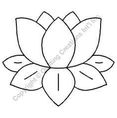 Quilting Stencils > Floral & Leaf Block - Item: on… Applique Patterns, Applique Quilts, Applique Designs, Quilting Designs, Quilt Patterns, Embroidery Designs, Stained Glass Patterns, Mosaic Patterns, Pattern Art