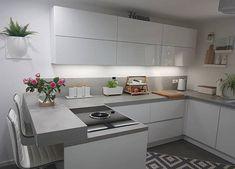 - – (n… – Table Ideas Dad's Kitchen, Kitchen Decor, Kitchen Design, Kitchen Cabinets, House Plans, House Design, Living Room, Interior Design, Table