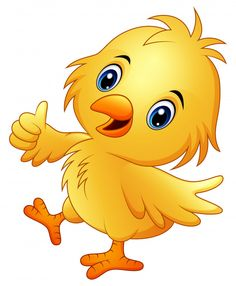 Cute baby chicken with thumb up isolated on a whit Art Drawings For Kids, Drawing For Kids, Art For Kids, Cartoon Pics, Cartoon Drawings, Cute Cartoon, Cute Images, Pretty Pictures, Baby Animals