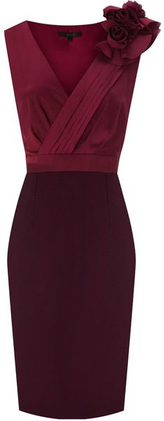 Beautiful Cranberry and Raspberry Coast Dress...for a fashionable mother or mother in law!