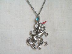 Unicorn Necklace Fun Necklace Rainbow Fantasy by JypsyJewels