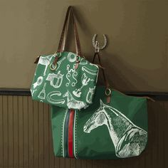 Equestrian bags by the Warm Biscuit Bedding Co.