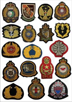 Custom Embroidered patches / Bullion wire Blazer Badges