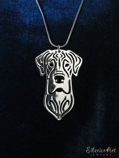 Great dane jewelry  silver dog jewelry  by SiberianArtJewelry, $75.00
