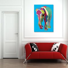 Graphic Art Patterned Elephant by EternalJellyfishShop on Etsy Jellyfish, Pattern Art, Graphic Art, Elephant, Buy And Sell, Lounge, Couch, Places, Handmade