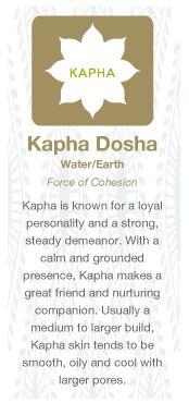 Kapha=  Water/Earth