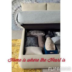 Home is where the heart is, and also where you can store your precious belongings! <3 http://flipagram.com/f/LmTMVJuLqh