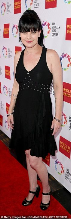 Pauley Perrette is pictured here at the  LGBT Center's 46th Anniversary Vanguard Awards in Los Angeles