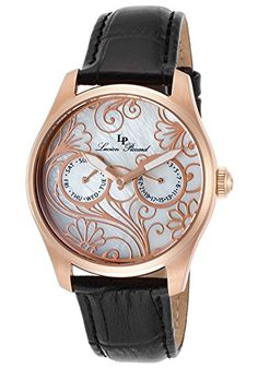 Women's Wrist Watches - Lucien Piccard Womens LP10147RG02MOP Love maze Analog Display Quartz Black Watch * Check out the image by visiting the link.
