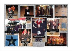 GREAT MONTAGE OF SOME OF THE STARS ON THE NZ WALK OF FAME ON THE OREWA BOULEVARD