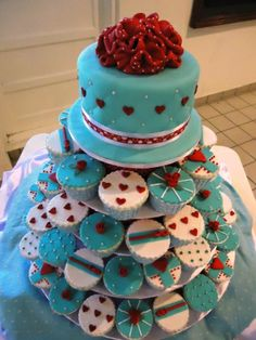 turquoise and red wedding | Of Wedding Cakes, Sweets and more...in Ipoh, Perak.: A Turquoise, Red ...