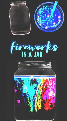 Glowing fireworks in a jar science experiment for kids. This activity is great for the of July! Glowing fireworks in a jar science experiment for kids. This activity is great for the of July! Kid Science, Science Projects For Kids, Science Activities, Science Crafts, Science Chemistry, Diy Projects, Free Activities, Summer Activities, Family Activities
