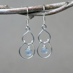 Sway Misty Blue Glass Beads and Sterling by CammieLaneJewelry