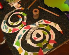 Fun springy spiral snake craft