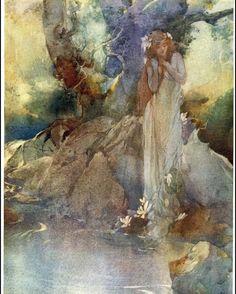Posted by ix_imagine_this : ARTIST OF THE WEEK - SIR WILLIAM RUSSELL FLINT  William Russell Flint (1880-1969)  Iolanthe (1902) Image detail. #artistoftheweek #ix #ixarts #ix_imagine_this #imaginativerealism #sirwilliamrussellflint #williamrussellflint #iolanthe