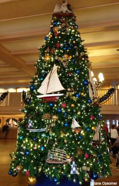 Visiting Disney World during the Christmas Holidays?  Then you'll want to take time to tour the resorts to see their over-the-top holiday decorations!