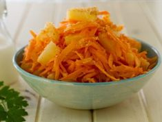 ditch the Greek Salad and make this Carrot & Coco-Pine Salad for your next cook out or braai. It is a classic salad recipe with a twist that's easy to make and captures the flavour of the tropics. Carrot Salad Recipes, Salad Recipes For Dinner, Pasta Salad Recipes, Healthy Salad Recipes, Fruit Recipes, Healthy Meals, Recipies, Pineapple Salad, Pineapple Recipes