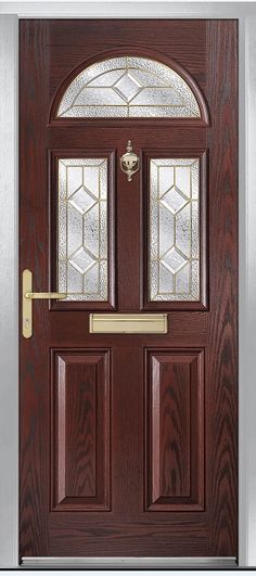 Riviera in Rosewood with Simplicity glass & Riviera in Green with Flair glass | Board 4: Composite Doors ...