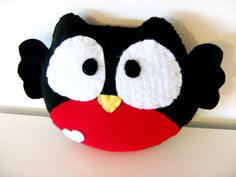 Red Belly Owl Plush Toy / Eco Friendly by vivikas on Etsy