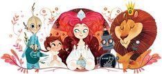 The Wonderful WIzard of Oz - Lorena Alvarez Gómez Art And Illustration, Character Illustration, Desenho Kids, Wizard Of Oz, Book Art, Concept Art, Art Drawings, Creations, Artsy