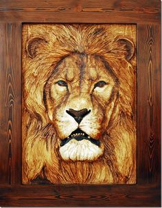 Wood Carving Art | Wood Carved Lion