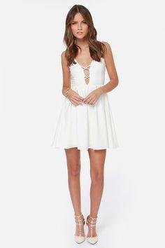 Let's Run Away Ivory Dress