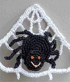 Spider Web Crochet Pin ~ free pattern