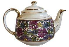 Floral English Teapot on OneKingsLane.com