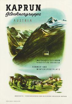 Kaprun Glocknergruppe / Oberschneider 1954.