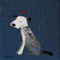 Trevor Mikula Navy Color, Dog Art, Pup, Dinosaur Stuffed Animal, Artsy, Dogs, Animals, Animales, Dog Baby