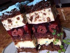My Favorite Food, Favorite Recipes, Cream Decor, Russian Recipes, No Bake Cake, Baking Recipes, Bakery, Food And Drink, Sweets
