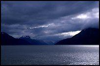 Storm clouds hang over the Turnagain Arm. Alaska, USA