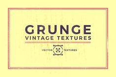 Vintage Grunge Textures by QueenHandcrafts on @creativemarket