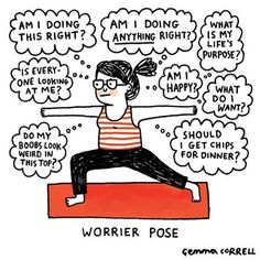 #yoga #inspiration The Worrier Pose... I've got this one down... ;)