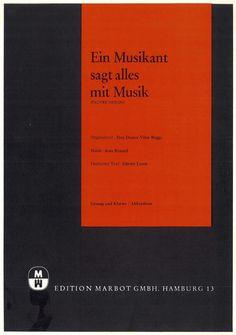 JEAN RENARD - EIN MUSIKANT SAGT ALLES MIT MUSIK - PAUVRE VIOLON - 1972 MUSIKNOTE
