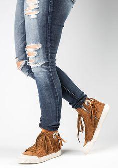 237d43d7162c Ash Marlow Sienna Suede Fringe Sneaker - Jildor Shoes Marlow