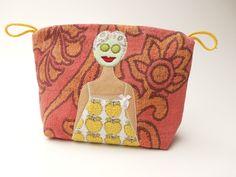 Kulturbeutel - Kosmetiktasche mit Trulla / 423 - ein Designerstück von trullafabrik bei DaWanda